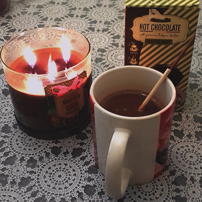 Hot Cocoa with Hazelnut and Cinnamon