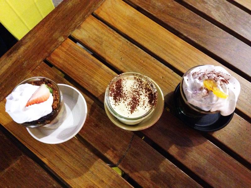 The trio of desserts.