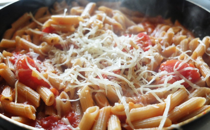 Two Pot Pasta Arrabbiata (Gluten-Free)