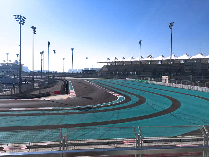 Yas Viceroy overlooking the Yas Racing tracks