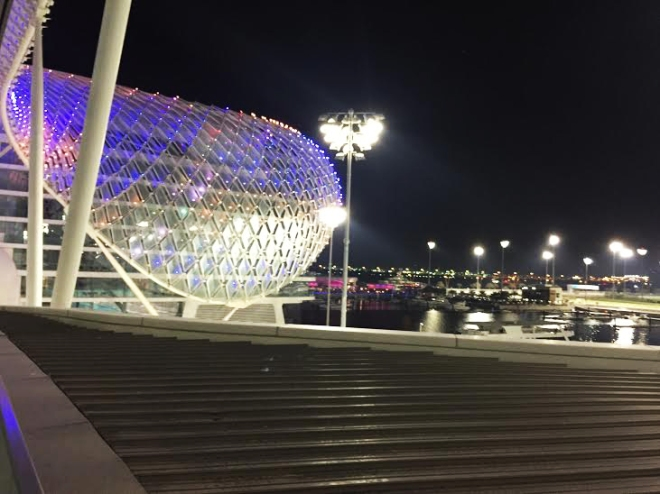 Yas Viceroy by night.